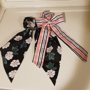 💟A Bundle of TWO Cute Hair Ties/Scrunchies!